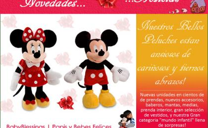 peluches disney, minnie, mickey, babyblessings